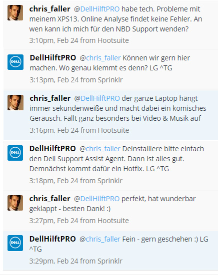 Dell Twitter-Support