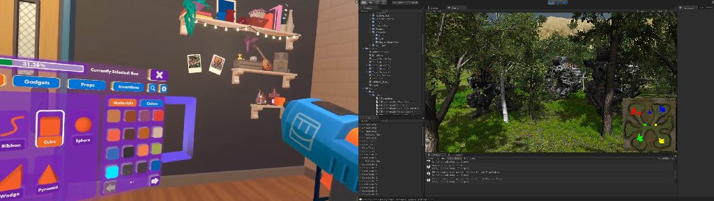 building the metaverse in the metaverse vs on a screen